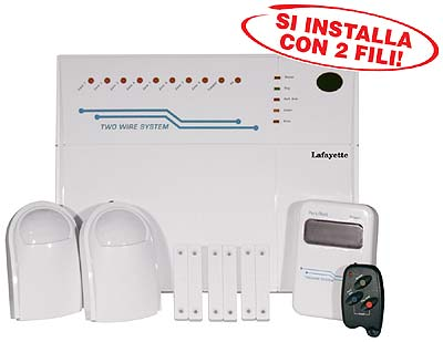 Af 800s kit allarme professionale a 8 zone - Sensori allarme alle finestre ...